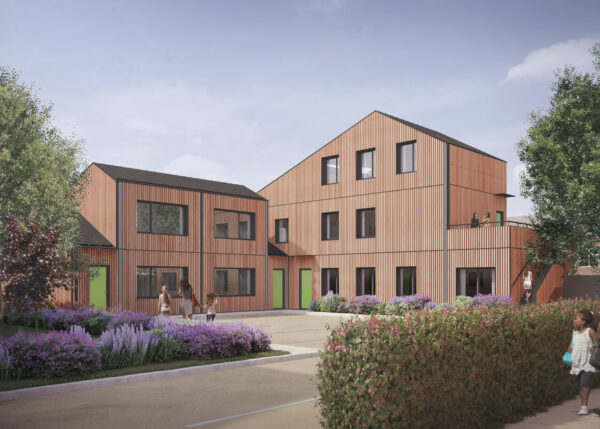New Timber homes in landscaped courtyards