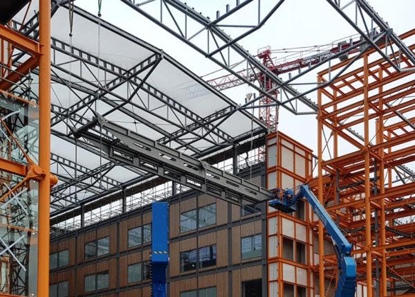 The Midland Metropolitan Hospital bridges are going up!