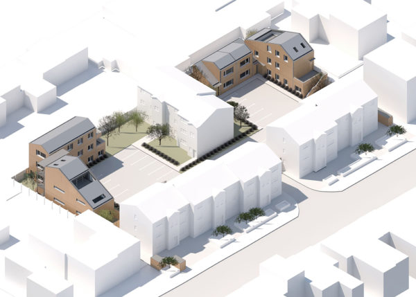 Green light for timber homes in landscaped courtyards