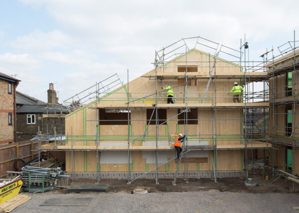 ResidentialDevelopment- Cross LaminatedTimber structure completed